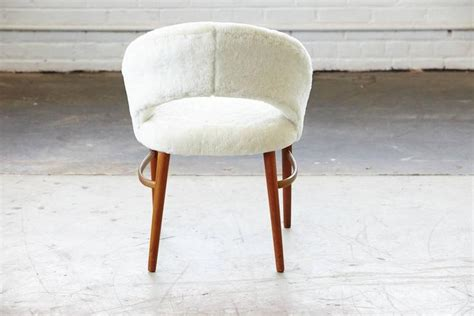 vanity or accent chair in genuine lambskin by frode holm