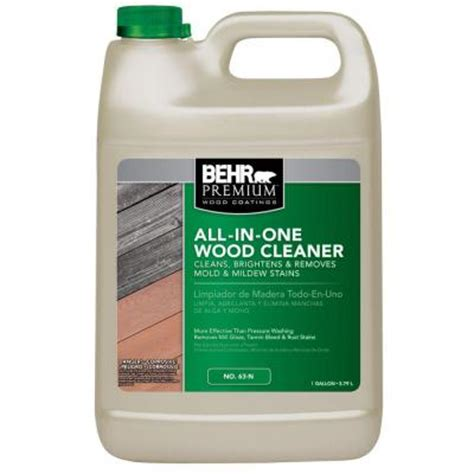 Sodium Percarbonate Wood Deck Cleaner by Behr Premium 1 Gal All In One Wood Cleaner 06301n The