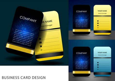 Business Card Calendar Template 2017 Free Vector Download