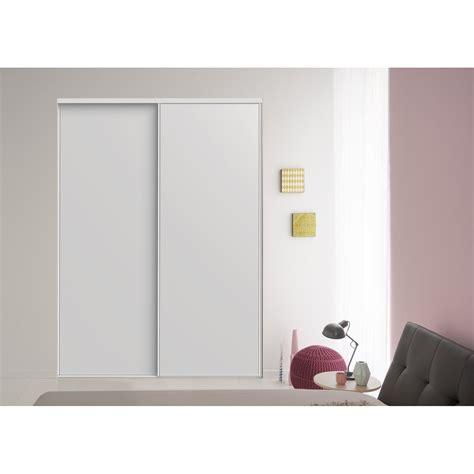lot de 2 portes de placard coulissante blanc l 205 x h 250 cm leroy merlin