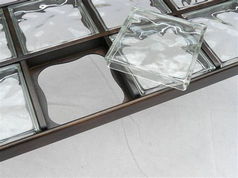 40s glass block coffee table image 7