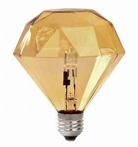Halogen Glühbirne E27 : diamond light halogen gl hbirne e27 e27 halogenlampe bernsteinfarben by frama made in design ~ Markanthonyermac.com Haus und Dekorationen