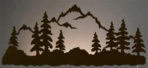 + Mountain Scene Metal Wall Art