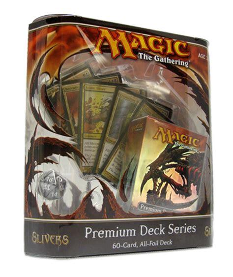 premium sliver deck packaging revealed gatheringmagic magic the gathering website