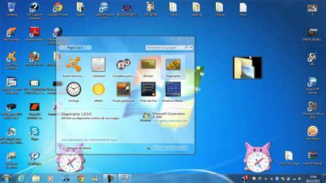mettre un gadget sur 233 cran de ordi bureau windows 7