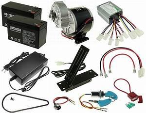 24 Volt 350 Watt Electric Go Kart Kit KIT-137 ...