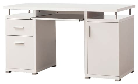 coaster computer desk in cappuccino finish 800107 modern desks and hutches by gwg outlet