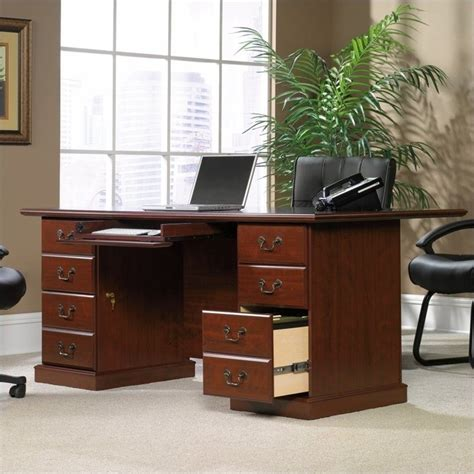 sauder heritage hill large executive desk 109843