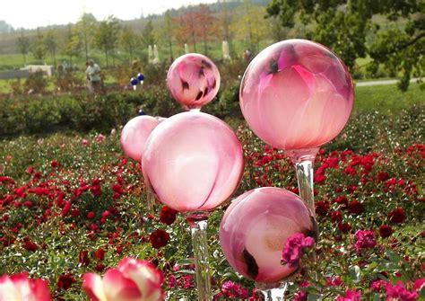 Gartendeko Gartendekoration Glaskugeln Rosenkugeln Lila