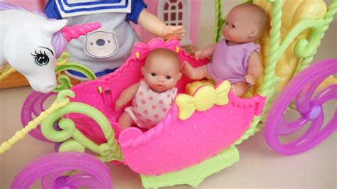 Baby Doll Carriage And Surprise Eggs Toys Baby Doli Play