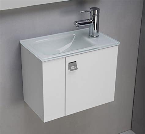 meuble salle de bain avec plan vasque en verre clair