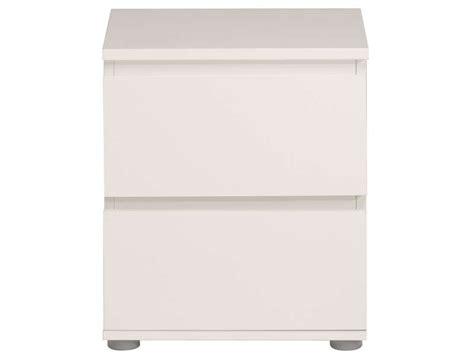 chevet 2 tiroirs neo coloris blanc vente de chevet conforama