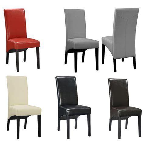 chaise de salle a manger simili cuir