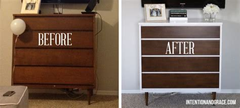 Mid Century Modern Dresser Diy. Painting And Staining