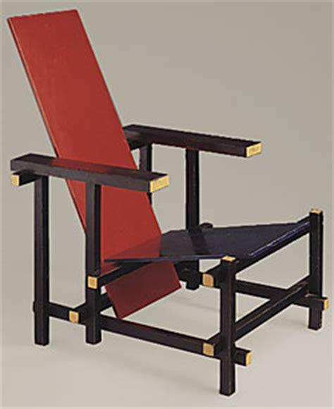 la chaise et bleue de gerrit rietveld