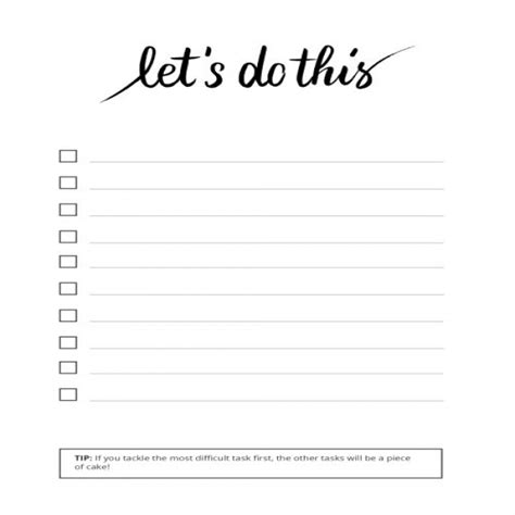 To Do List Template Printable Pinterest by To Do List Task List Templates