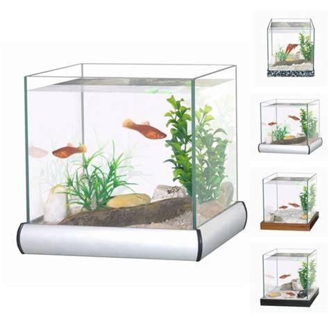 kit aquarium avec gravier et plante aquarium et meuble