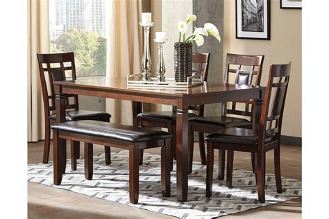 Bennox Dining Room Table And Chairs With Bench (set Of