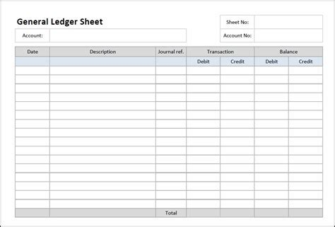 Free Download Accounting Ledger Excel Worksheet  Manager's Club