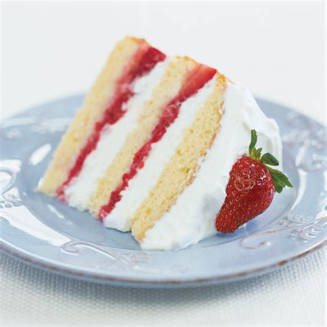white cake with strawberry filling strawberry cake america s test kitchen