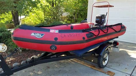 Inflatable Dive Boats For Sale by Dive Boat 1986 12 Ft Achilles On Trailer With Mercury 25