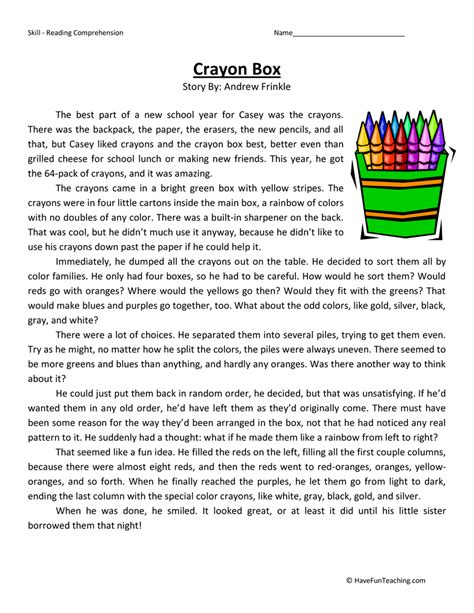 Fifth Grade Reading Comprehension Worksheet Bug Collection Fifth Best Free Printable Worksheets