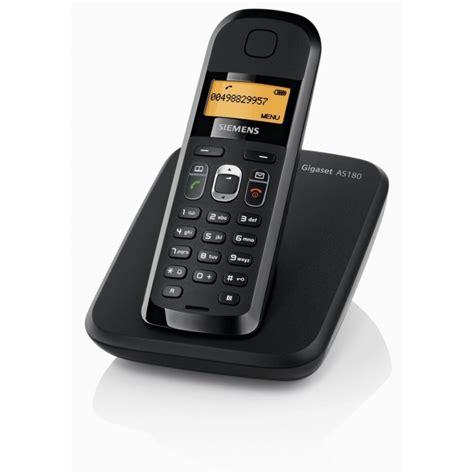 siemens gigaset as180 noir t 233 l 233 phone fixe sans fil iris ma maroc