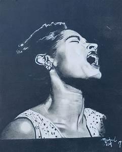 Billie Holiday l Michael Veik Drawing – Artvilla