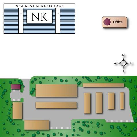 New Kent Mini Storage  Site Map