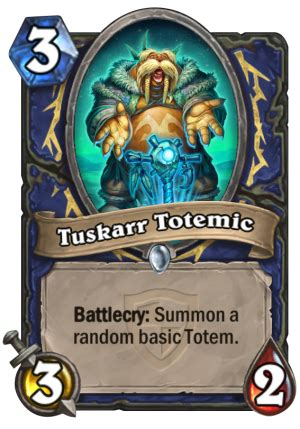 tuskarr totemic hearthstone card