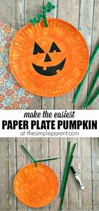 Learn how to make the easiest Paper Plate Pumpkin Craft ...