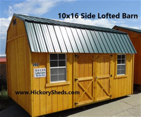 hickory sheds lofted barn