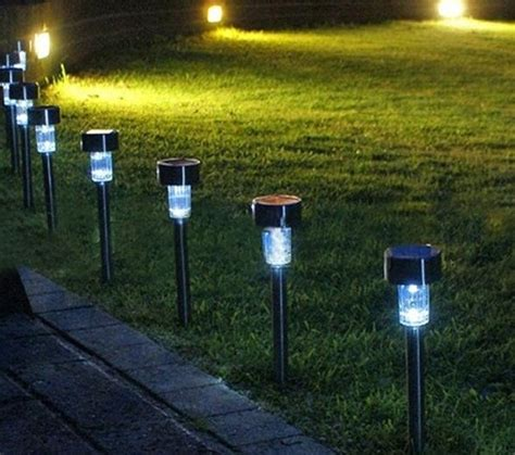outdoor solar lights 2016 new 24pcs set outdoor garden led outdoor path