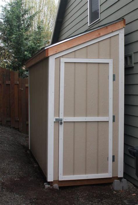 slant roof shed plans 4 x 10 shed detailed building