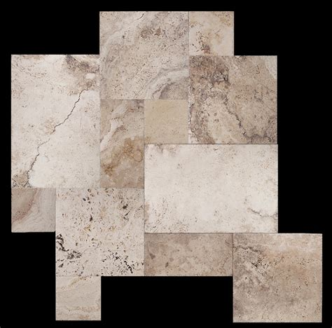 picasso travertine versailles pattern chiseled brushed unfilled ebay