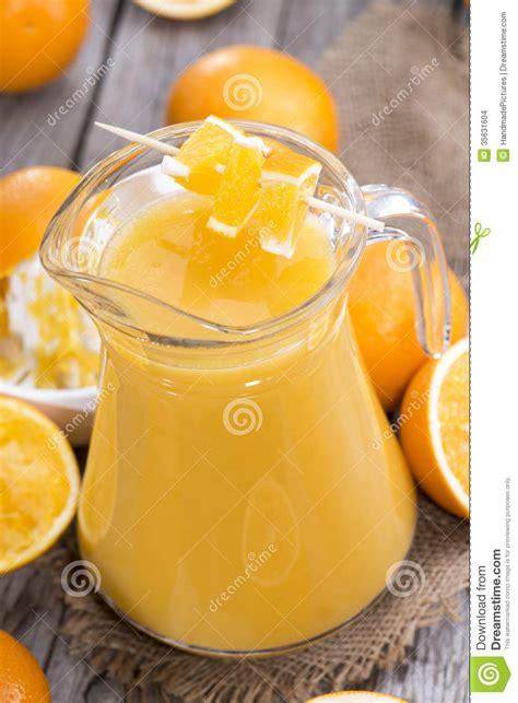 jus d orange fait maison images stock image 35631604