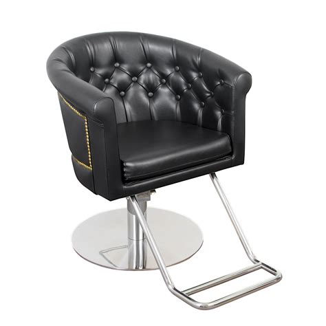 All Purpose Salon Chairs by Round Beauty Chair With Tufting And Nailhead Trim Seline