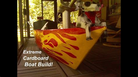Easy Cardboard Boat Making by Extreme Cardboard Boat Build How To Make A Cardboard