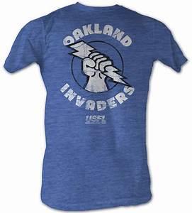 USFL Oakland Invaders T-shirt Football League Sea Blue ...