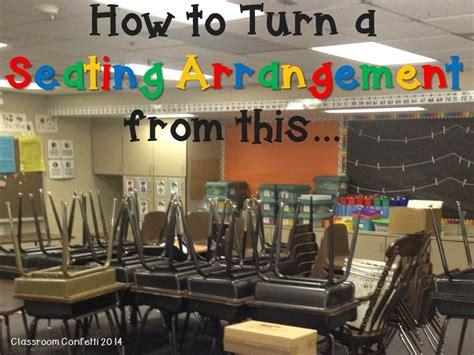 seating arrangements classroom confetti