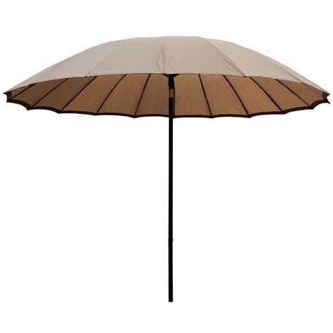 2 5m taupe tilting garden parasol sun shade canopy umbrella