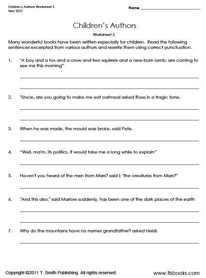 Grammar Worksheets 5th Grade Free Printable #17 Worksheet