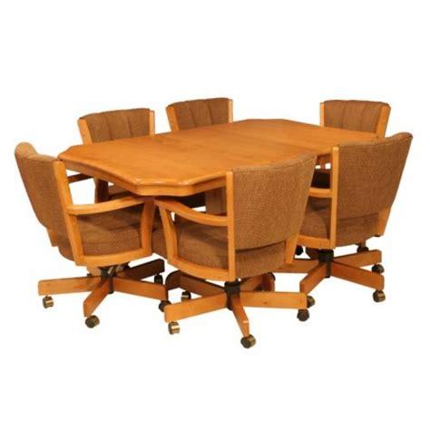 cr joseph 9105gc dining set with swivel tilt caster chairs