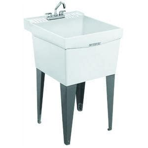 utility sink single laundry tub mustee e l 19f