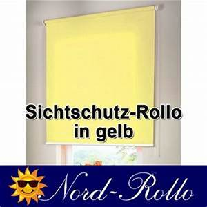 Rollo 60 X 220 : sichtschutzrollo mittelzug oder seitenzug rollo 60 x 120 cm 60x120 cm gelb kaufen bei nord ~ Markanthonyermac.com Haus und Dekorationen