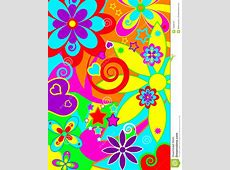 Psychedelic Funky Background Stock Vector Illustration