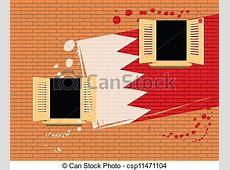 Symbol of statehood a flag bahrain flag painted on a