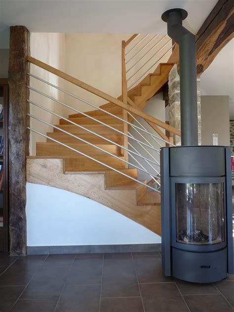 pose d un escalier en bois obasinc