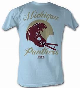 USFL Michigan Panthers T-shirt Football League Adult Light ...