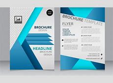 Corporate brochure template modern checkered blue